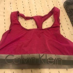 Calvin Klein sports bra size L